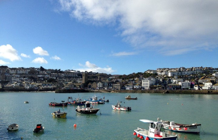 Harbour front in St Ives