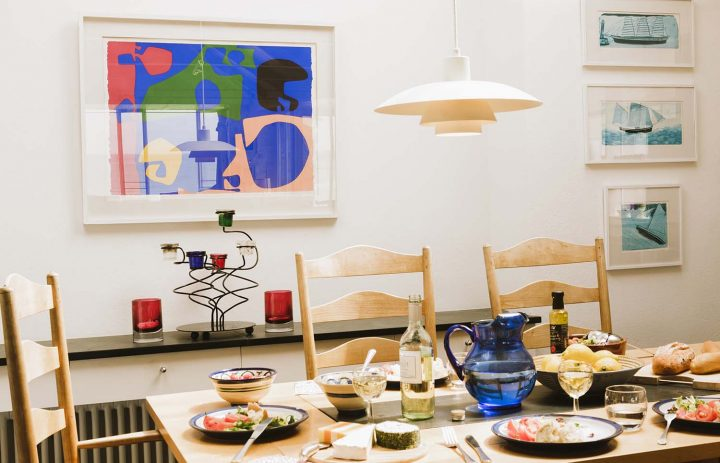 Dining table set up in Upper Saltings 72DPI